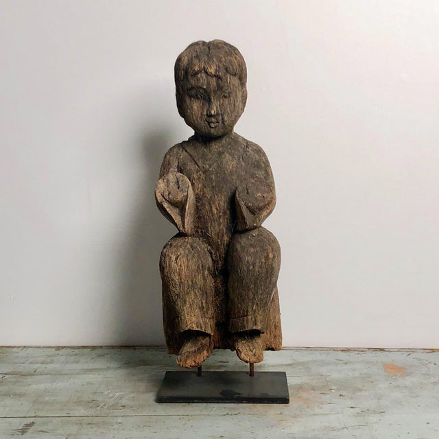 1900s Antique Southeast Asian Child Carving For Sale In San Francisco - Image 6 of 6