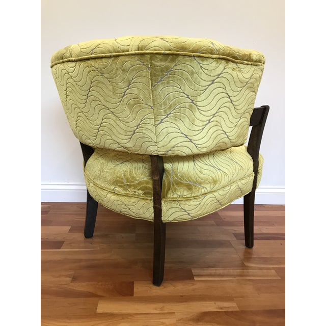 1940s Vintage Billy Haines Era Channel Back Chair For Sale - Image 4 of 12