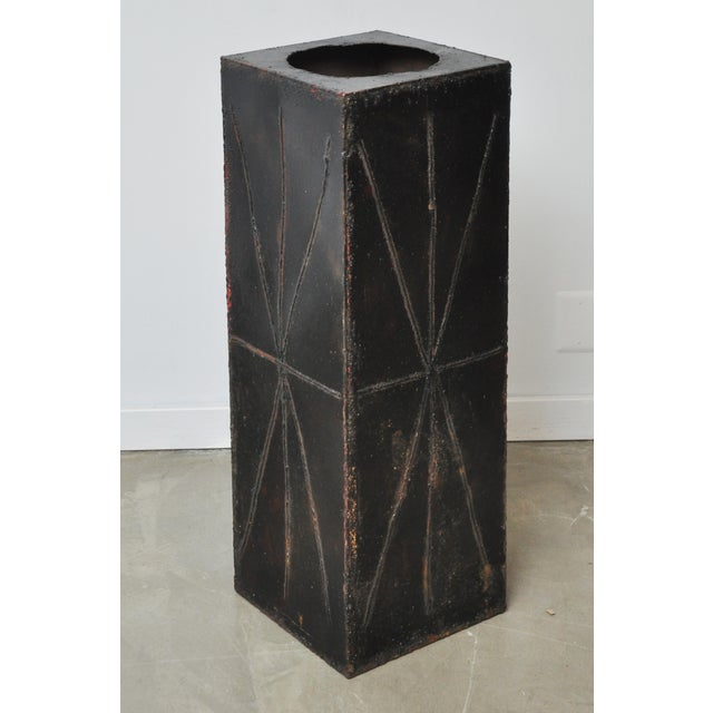 Paul Evans Sculptural Steel Planter Pedestal - Image 3 of 8