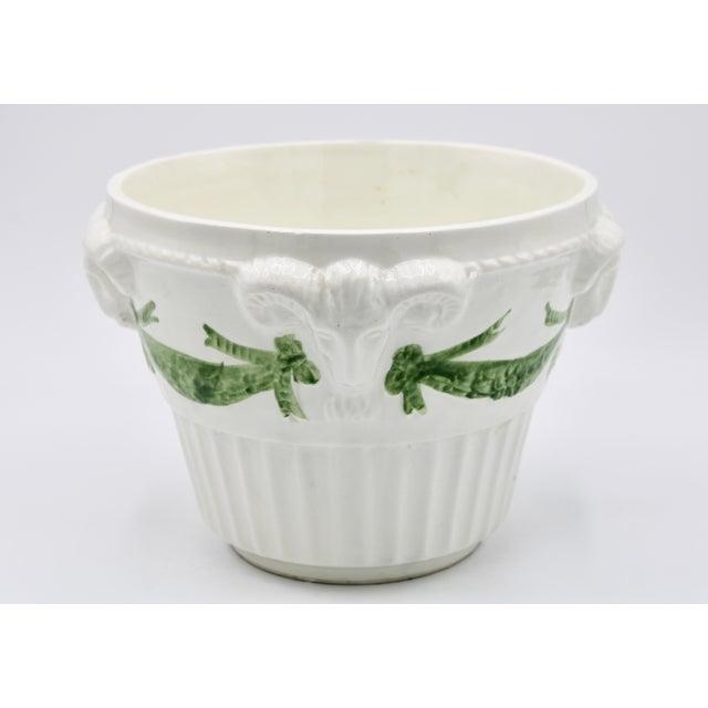 Mid 20th Century Italian White Rams Head Ceramic Planter For Sale - Image 5 of 8