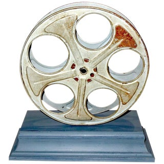 Motion Picture Cinema Reel Circa Mid-20th Century Mounted as Sculpture For Sale
