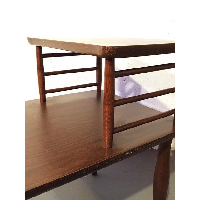Danish Modern Vintage Viko Baumritter Step Table - Image 5 of 7