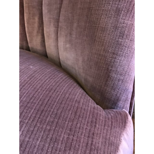 1960s Vintage Pair of Milo Baughman for Thayer Coggin Channel Back Swivel Lounge Chairs Newly Upholstered For Sale - Image 9 of 11