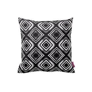 Black & White Geometric Throw Pillow Cover