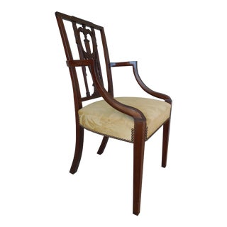 Wallace Nutting Original Square Back Federal Style Armchair For Sale