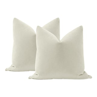 "22"" Marble Mohair Pillows - a Pair For Sale"