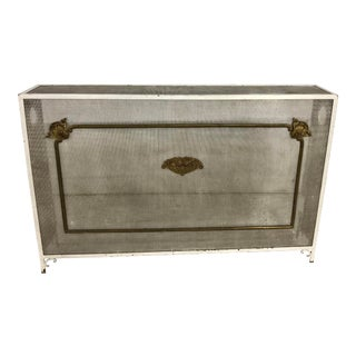1900s French Radiator Cover/Fireplace Screen For Sale