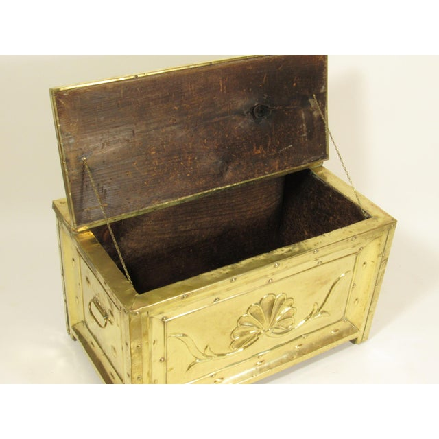 19th Century Swedish Brass Wood Box For Sale In Boston - Image 6 of 8