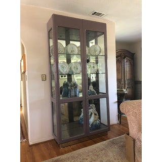 Vintage Glass and Metal China Cabinet Preview