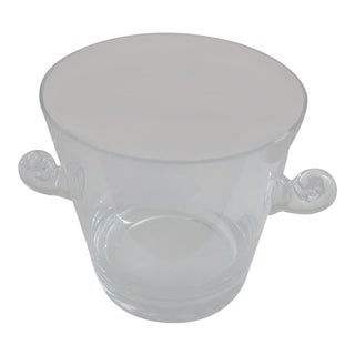 Vintage Tiffany & Co. Crystal Swirl Handled Ice Bucket For Sale