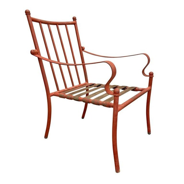 Set of Four Mid-20th Century American Iron Patio Chairs For Sale In Chicago - Image 6 of 12