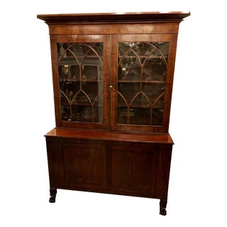 Antique Regency Period Flame Mahogany Library Bookcase C.1828