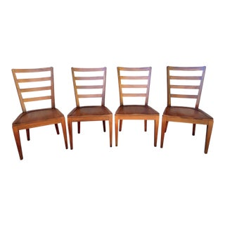 Traditional Ethan Allen Ladder Back Dining Chairs - Set of 4