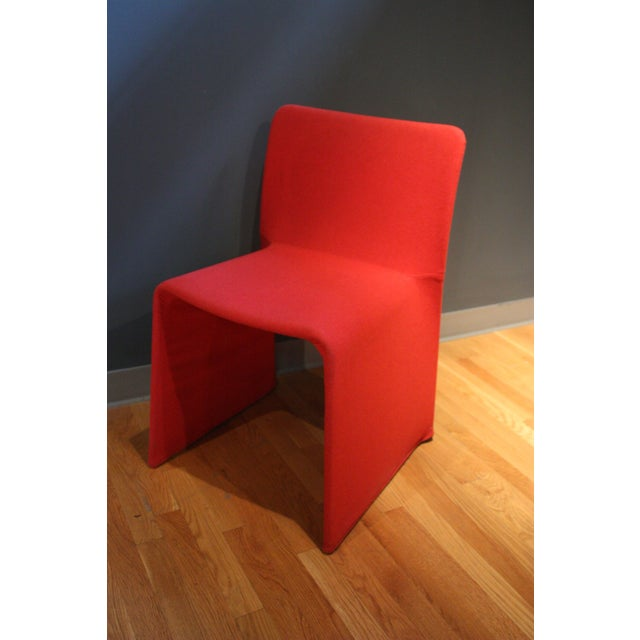 Mid-Century Modern Patricia Urquiola Red Fabric Glove Dining Chairs - a Pair For Sale - Image 3 of 6