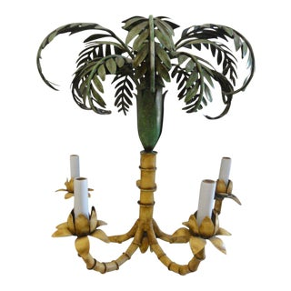 Currey & Company Palm Tree Chandelier For Sale