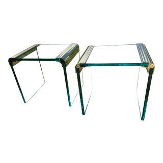 Pace Collection Waterfall Side Tables - a Pair For Sale