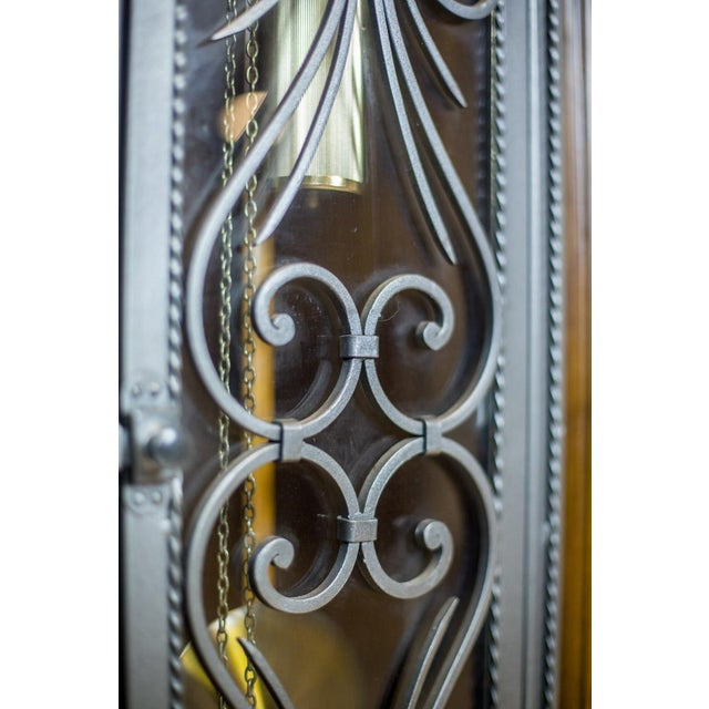 1980s 20th Century Tempus Fugit Grandfather Clock with a Chime For Sale - Image 5 of 13