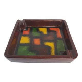 Mid-Century Modern Italian Bitossi Style Ceramic Ashtray For Sale