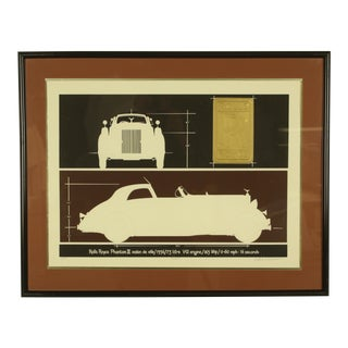 1980s Rolls Royce Phantom Embossed Serigraph For Sale