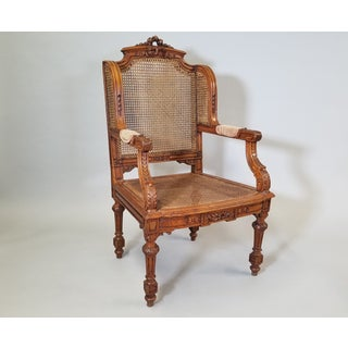 1910s Vintage Italian Renaissance Style Arm Chairs- A Pair Preview