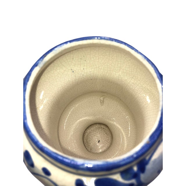 1950s Vintage French Quimper Breton Apothecary Jar For Sale - Image 5 of 7