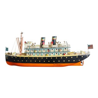 Vintage Hand-Crafted Model of the Titanic For Sale