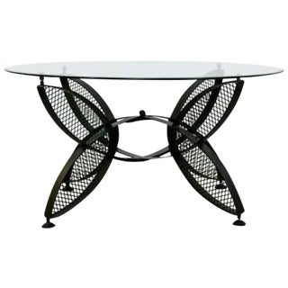 Mid Century Modern Tempestini for Salterini Butterfly Patio Coffee Table 1960s For Sale