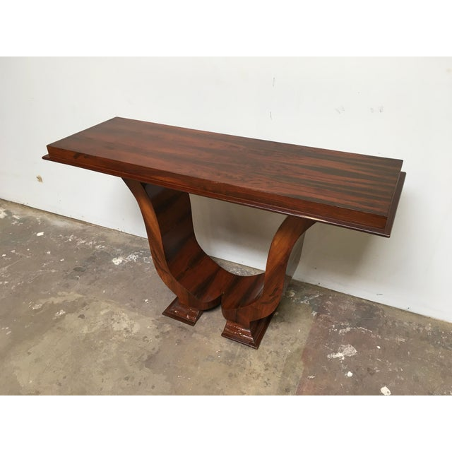 Art Deco Console in Rosewood For Sale - Image 12 of 12