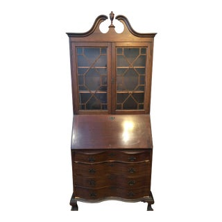 French Style Mahogany Secretary Desk For Sale