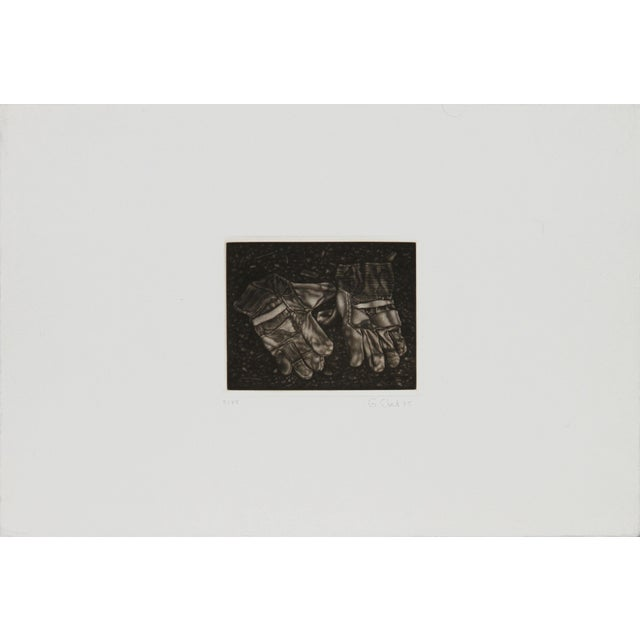 Artist: Gerde Ebert, German (1947 - ) Title: Pair of Gloves Year: 1975 Medium: Mezzotint, signed and numbered in pencil...