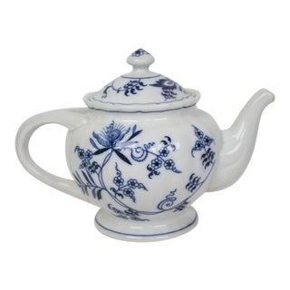 Blue Danube Blue Onion Tea Pot For Sale