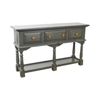 Broyhill Yorkshire Market Blue Pine Country Style 3-Drawer Console Server