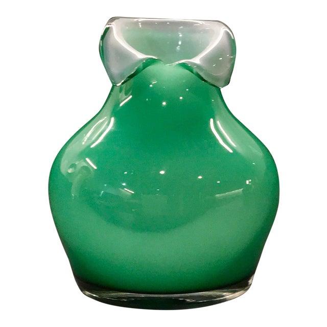 Vintage Tarnowiec Of Poland Hand Blown Mint Green Glass Vase Chairish