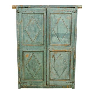 19th Century French Hand Carved and Hand Painted Corner Piece Doors - a Pair For Sale