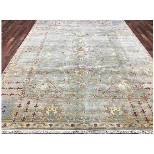 """2010s Peshawar Hand Knotted Oriental Area Rug - 7'7""""x10' For Sale - Image 5 of 10"""