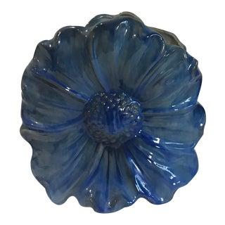 1940s Vintage Stangl Blue Daisy Vase For Sale