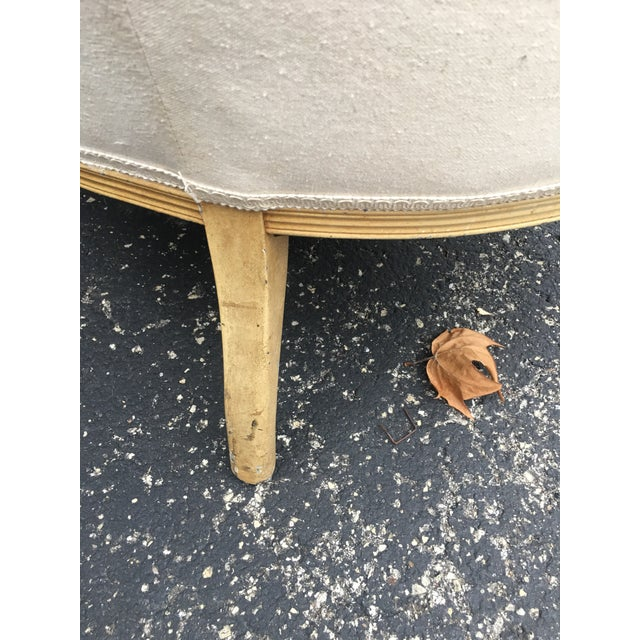 Wood 1920s French Muslin Covered Settee For Sale - Image 7 of 9