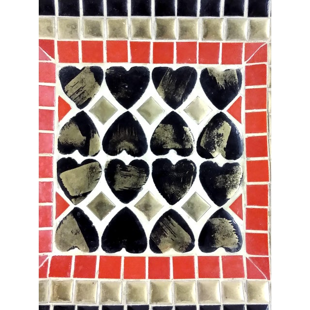 Art Deco Ceramic Heart Tile Tray - Image 8 of 8