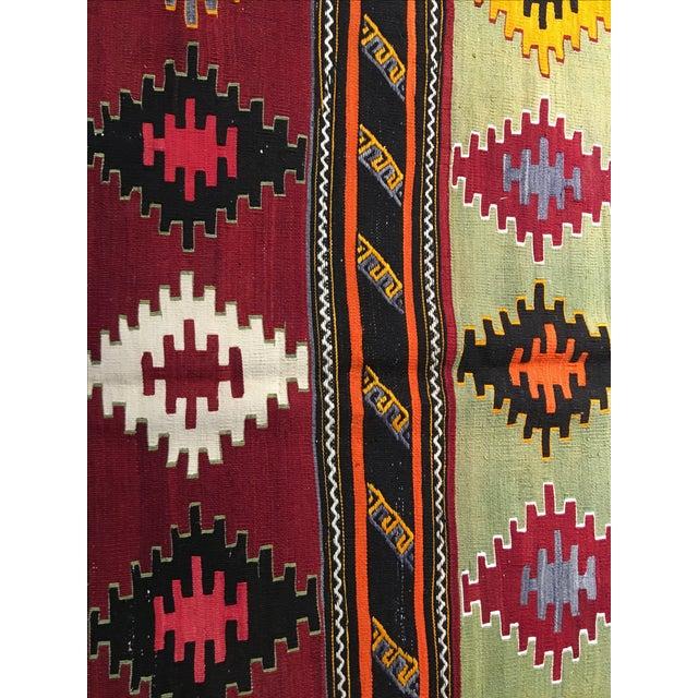 Vintage Turkish Kilim Rug - 6′2″ × 11′3″ - Image 5 of 10