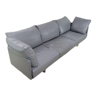 Cassina Toot Leather Sofa 3 Seater For Sale