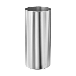Georg Jensen Art Deco Stainless Steel Bernadotte Vase, Medium For Sale