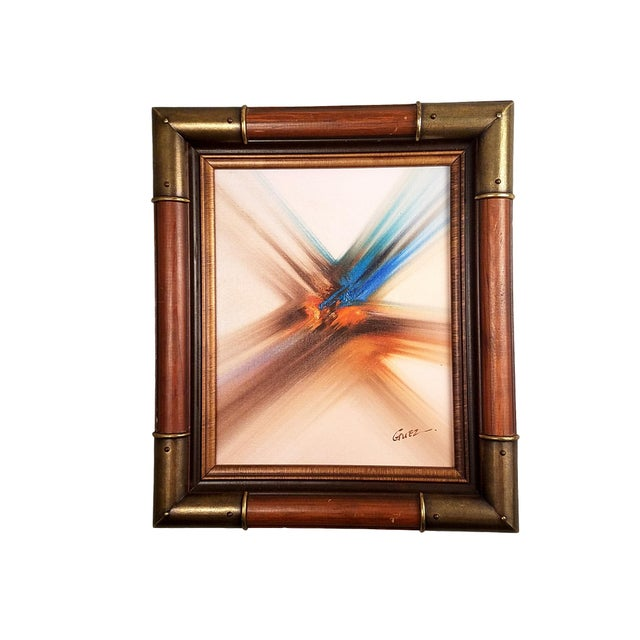 Professionally framed painting signed Guez, framed in 1985. Smaller size (less than 1' high!) is perfect to fit in that...