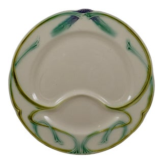 Longchamp Terre De Fer Art Nouveau Asparagus Plate For Sale