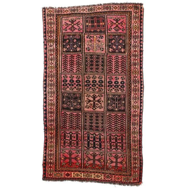 Vintage Persian Hamedan Wool Rug - 4′2″ × 7′7″ - Image 1 of 5