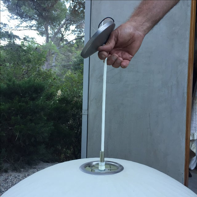 George Nelson Saucer Bubble Pendant Lamp - Image 7 of 7