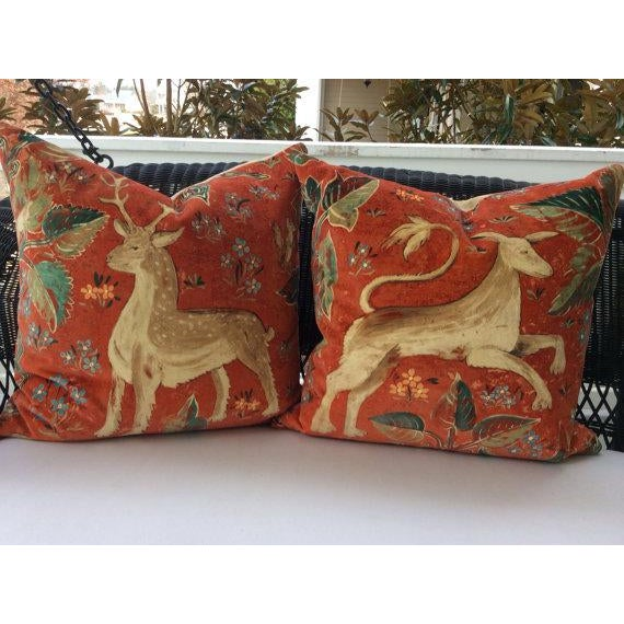 This listing is for a pair of Zoffany pillows in The Arden design. Arden is a design by Melissa White taken from a mural...