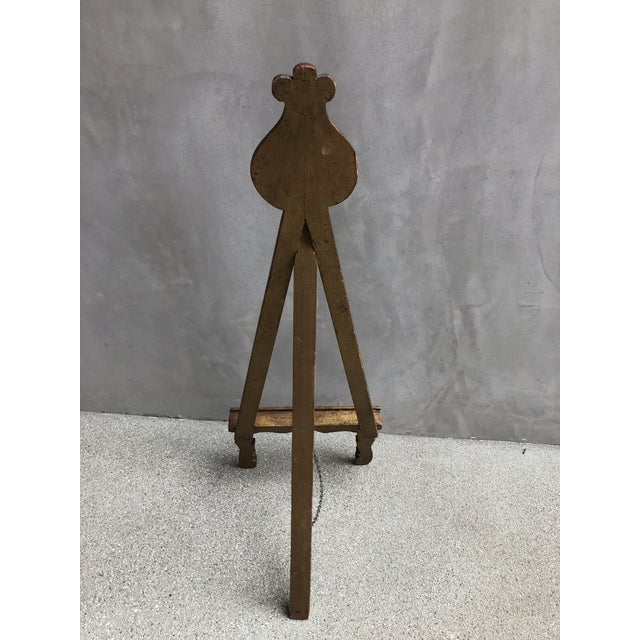1960s Antique Gold Easel Picture Stand For Sale - Image 5 of 8