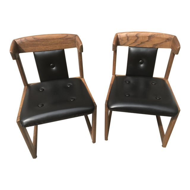 Howard Furniture Black Dining Chairs - A Pair - Image 1 of 4