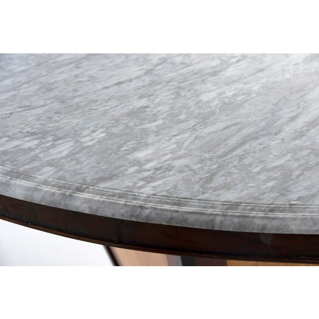 Large Deco Inspired Italian Marble Table With Custom Made Base For Sale - Image 11 of 13