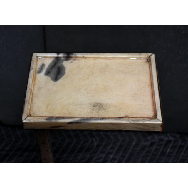 Parchment Drink Table For Sale In Los Angeles - Image 6 of 8